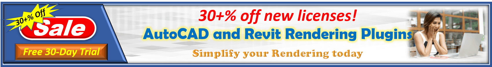 AutoCAD/Revit Rendering plug-in Sale