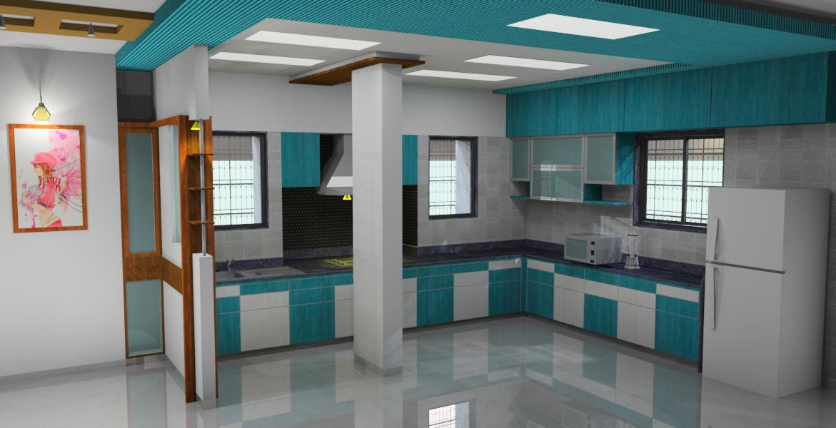 Kitchen - Rendering contest winner - by sonal oswal